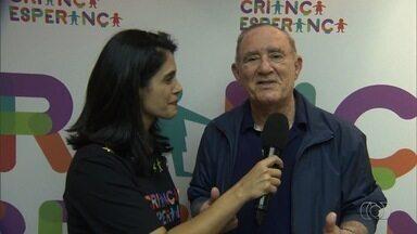 Renato Aragão convida goianos a contribuírem com o Criança Esperança - Artistas vão se apresentar no evento neste sábado (19), depois da novela Força do Querer.