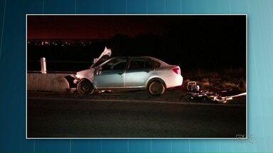 Região de Ponta Grossa registra quatro mortes em acidentes de trânsito - Os acidentes foram registrados em Reserva, Palmeira e Castro.