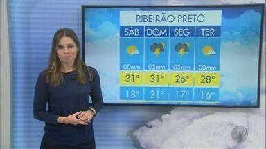 Domingo (20) deve amanhecer com chuva em Ribeirão Preto, SP - Chuvas fortes também devem aparecer durante a próxima semana.
