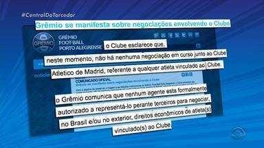 """Grêmio diz que não há nenhuma negociação com clubes estrangeiros por Luan - """"Chato"""", reclama o treinador Renato Portaluppi sobre os rumores de saída do jogador."""