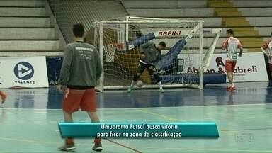 Umuarama Futsal recebe o Guarapuava valendo vaga entre os oito primeiros - Jogo é às 11 horas da manhã. Disputa é uma clássico do Paranaense de Futsal.