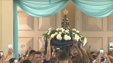 Católicos celebram padroeira do Brasil em Santa Inês - Devotos de Nossa Senhora Aparecida fizeram festa no final de semana para receber a imagem peregrina.