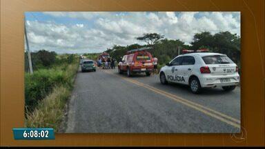 Uma pessoa morreu e quatro ficaram feridas em acidente em Guarabira no domingo - Vítimas estavam no mesmo carro, que seguia na PB-073, que liga as cidades de Maria e Guarabira.