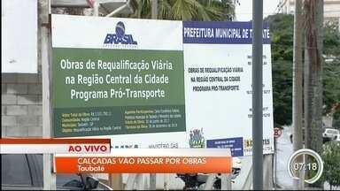 Calçadas na região central de Taubaté passarão por reformas - Obras começam nesta segunda-feira.