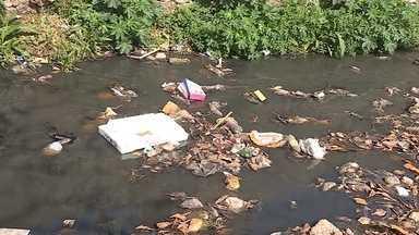 Cerca de 550 toneladas de lixo são retiradas por ano dos córregos que cortam BH - O Ribeirão Arrudas, no trecho que passa pelo bairro Horto, é um dos locais onde é possível ver lixo de todo o tipo.