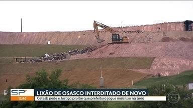 Prefeitura de Osasco joga lixo em Caieiras a um custo de R$100 mil por dia - Justiça determinou o fechamento do lixão de Osasco à pedido da Cetesb, mas disputa deve continua nos tribunais.