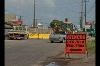 Trânsito na Augusto Montenegro sofre alterações para obras do BRT, em Belém - Mudança é necessária para obras referentes à construção do Terminal Maracacuera, que está inserido no terceiro trecho de obras do BRT Augusto Montenegro.
