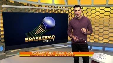 Vila Nova inicia venda de ingressos para jogo contra o ABC - Tigre poderá receber torcedores no Serra Dourada, sábado