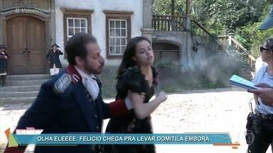 Domitila é levada embora pelo marido - Aghata Moreira conta que se envolve com o drama de Domitila na novela 'Novo Mundo'