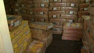 Polícia descobre depósito de cargas roubadas no Paraná - No barracão, localizado na cidade de Pitanga, havia 12 toneladas de produtos roubados.
