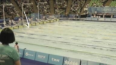 Italo Manzini conquista mais uma medalha para o Brasil na Universíade - Nadador levou a prata nos 50m livres.