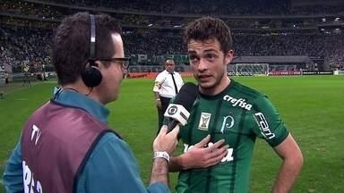 """Hyoran, sobre fato de primeiro gol pelo Palmeiras ser em um clássico: """"Difícil até falar"""" - Hyoran, sobre fato de primeiro gol pelo Palmeiras ser em um clássico: """"Difícil até falar"""""""