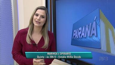 Maringá FC vence a Portuguesa Londrinense por 3 a 0 - O jogo foi em Campo Mourão depois que a Portuguesa perdeu o mando de campo.
