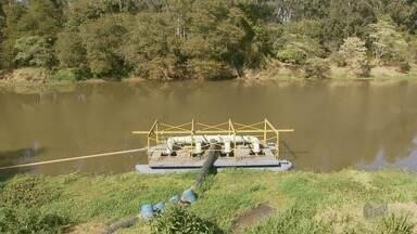 Estiagem começa a deixar níveis baixos em rio e ribeirão de Varginha (MG) - Estiagem começa a deixar níveis baixos em rio e ribeirão de Varginha (MG)