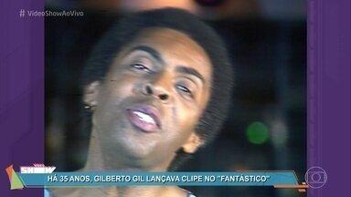 Confira o clipe de 'Andar com Fé', de Gilberto Gil - Cantor lançou a música em 1982 no 'Fantástico'