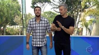 Lázaro Ramos lança desafio criativo no 'Lazinho Com Você' - Ator invade o estúdio para divulgar seu novo programa, que estreia em dezembro e conta com a participação do público