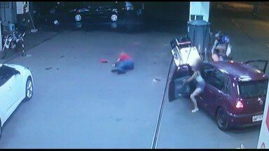 Adolescente bate em bomba e atropela frentista em posto de combustíveis - O acidente aconteceu em Medianeira.