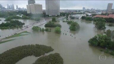 No Texas, tempestade Harvey pode ter matado 19; fábrica pode explodir - Em Houston, caiu o dobro da água do furacão Katrina em Nova Orleans. Trump e Melania foram ao Texas anunciar assistência federal ao estado.