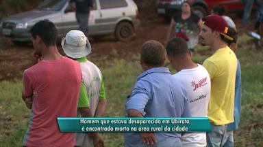 Encontrado jovem que estava desaparecido em Ubiratã - Rapaz foi encontrado morto em uma mata na área rural.