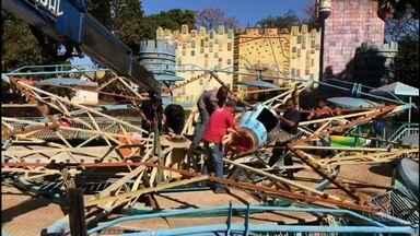 Presidente da Agetul presta depoimento sobre acidente no Parque Mutirama, em Goiânia - Acidente deixou 13 pessoas feridas.