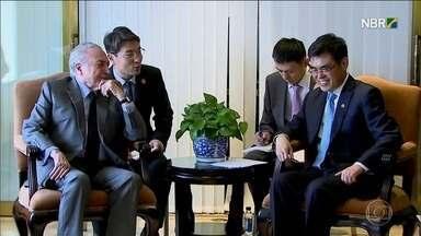 Temer quer atrair investidores da China com pacote de privatizações - Em sua segunda viagem ao país, presidente se reuniu com empresários. Nos últimos seis anos, China investiu no Brasil mais de US$ 45 bilhões.