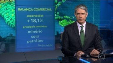 Balança comercial alcança em agosto resultado melhor do que todo 2016 - Superávit atingiu os US$ 48 bilhões; Brasil exportou mais minério, soja e petróleo e com preços mais altos.