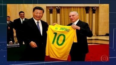 Temer assina acordos de cooperação na China e diz que Brasil se recupera - Chineses demonstraram interesse em terminar usina nuclear de Angra 3. Governo espera que negócios com a China cheguem a US$ 10 bilhões.