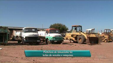 Prefeitura de Umuarama leiloa veículos e máquinas - O leilão será nesta terça-feira, a partir das 9h.