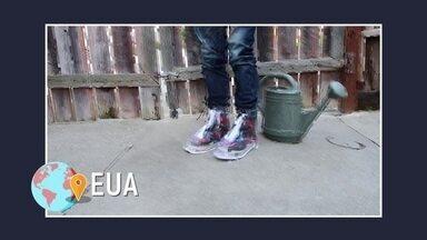 Capa de chuva para sapatos já é uma realidade - Dry Steppers é um produto feito por uma empresa americana que vai manter o seu calçado longe de poças e chuvas.