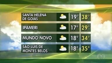 Confira a previsão do tempo para esta semana em Goiás - Colheita do milho se aproxima do fim e produtores preparam safra do verão.