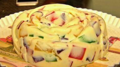 Supercolorido, mosaico de gelatina rende uma ótima sobremesa - Veja mais em g1.com.br/ce