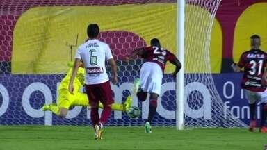 Os gols de Vitória 2 x 2 Fluminense pela 23ª rodada do Brasileirão - Wendel, Henrique Dourado, Neílton e Kanu marcaram os gols da partida.