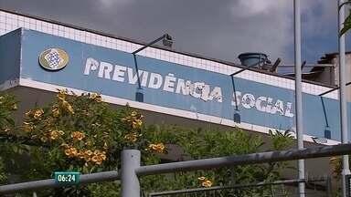 Prédio do INSS está fechado há mais de cinco anos, em Taquaritinga do Norte - Previdência Social afirma que obra custou um milhão de reais