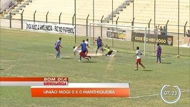 Manthiqueira e União Mogi empatam sem gols no primeiro jogo da semifinal da Segundona - Time do Vale terá vantagem do empate na volta para chegar à Série A3