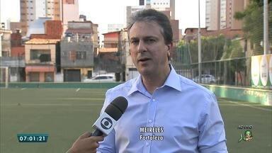 Camilo Santana afirma que Fortaleza tem água garantida até 2018 - Camilo anunciou o projeto para construção de 40 areninhas no interior do Ceará.