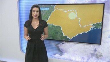 Confira a previsão do tempo para esta quarta-feira na região de Ribeirão Preto - Em Guariba, termômetros marcam 20 graus.