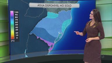 Tempo: água disponível do solo chega em 100% no Sul do RS - Assista ao vídeo.