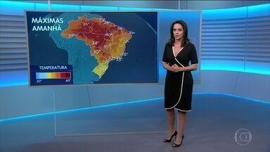 Último fim de semana do inverno será quente na maior parte do Brasil - No domingo (17), as temperaturas devem subir bastante na parte da tarde. Em Palmas (TO), deve chegar aos 40 graus.