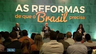 """Evento em Vitória promove debate sobre a reforma da previdência - Encontro faz parte da série """"As reformas de que o Brasil precisa"""", uma realização da Rede Gazeta."""
