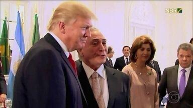 Discurso de Temer abre debates da Assembleia Geral da ONU - Presidente brasileiro jantou com Donald Trump na segunda-feira (18) e o assunto principal do encontro foi a crise na Venezuela.