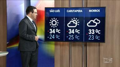 Confira a previsão do tempo no Maranhão - São Luís terá dia de sol com mínima de 24 graus e máxima de 34.