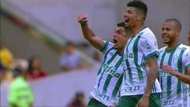 Melhores momentos Fluminense 0 x 1 Palmeiras pela 25ª rodada do Brasileirão 2017 - Egídio marcou o único gol da partida com um belo chute de fora da área no 1º tempo.