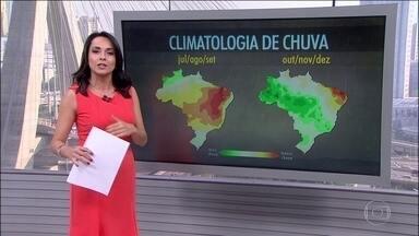 Previsão de chuva para o sul de Goiás - Veja a previsão do tempo para todo o país nesta terça-feira (26). Previsão de chuvas para Mato Grosso, Rio Grande do Sul e Rondônia.
