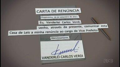 Vice-prefeito de Chopinzinho pede renúncia do cargo - Pedido surpreendeu muita gente na cidade.
