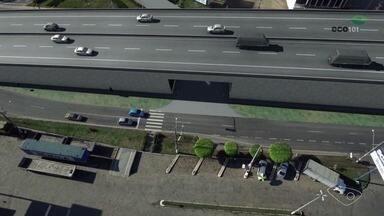 Moradores ainda esperam por obra de viaduto em Viana, ES - A Eco 101, empresa que administra a rodovia, não tem previsão de quando vai concluir o viaduto.
