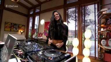 DJ Andressa Fleming agita inicio do 'É de Casa' - O sábado começa animado no 'É de Casa'!