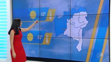 Temperaturas podem chegar aos 40ºC em cidades do oeste do estado nesta segunda-feira (3) - Por enquanto, não há previsão de chuva para a região.