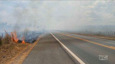 Incêndios em propriedades rurais ameaçam a segurança de comunidades no MA - Incêndios em propriedades rurais e nas margens das estradas ameaçam a segurança de comunidades e também de quem viaja pela região central do Maranhão.
