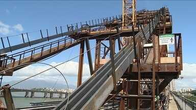 Ponte Hercílio Luz entra em mais uma fase da reforma - Ponte Hercílio Luz entra em mais uma fase da reforma