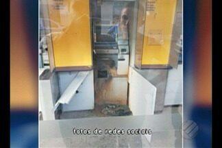 Assaltantes roubam agência bancária em Irituia - A Polícia Militar informou que os criminosos usaram um maçarico para arrombar o único caixa eletrônico que estava funcionando na unidade.